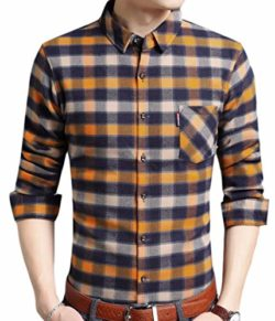 Smeiling Men's Winter Button Down Checked Long Sleeve Thermal Flannel Shirts