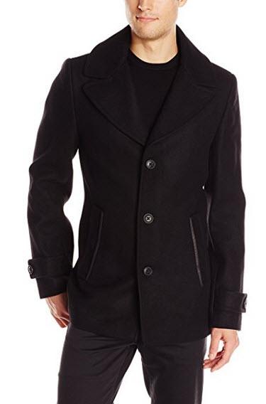 SOIA & KYO Men's Milton Removable Bib Wool Coat.