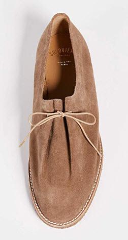 Soloviere Men's Matthieu Suede Lace Up Shoes beige