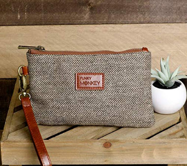 {Sophie Collection} FunkyMonkey Fashion Wristlet Wallet Clutch Phone Purse Handbag 3Sizes Brown/ ...