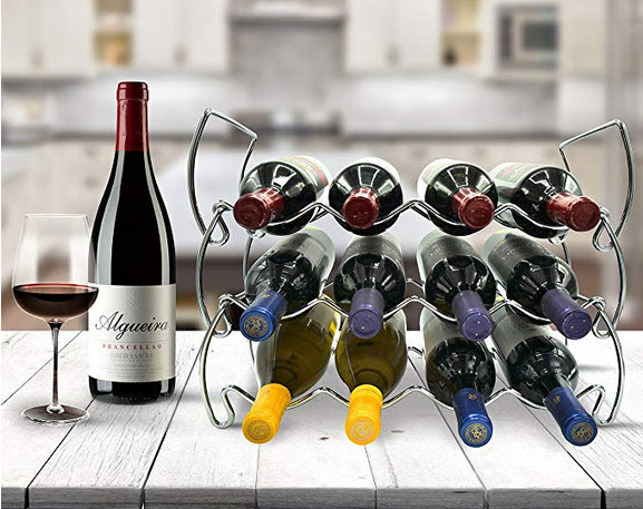 Sorbus 3-Tier Stackable Wine Rack – Classic Style Wine Racks for Bottles – Perfect f ...