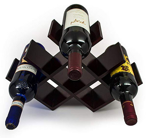 Sorbus Wine Rack Butterfly – Stores 8 Bottles of Wine – Sleek and Chic Looking ̵ ...