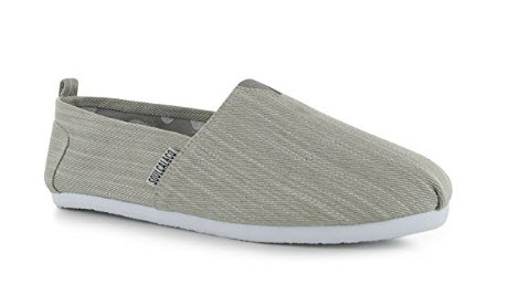 SoulCal Mens Long Beach Canvas Slip On Shoes Summer Lightweight Casual Footwear grey denim