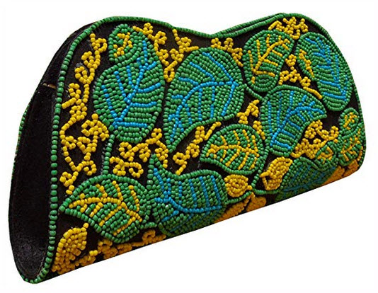 Spice Art Cotton Silk Black Beaded Embroidered Clutch for Ladies