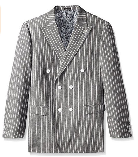 Stacy Adams Men's Big and Tall Sixer Double Breasted Sport Coat.