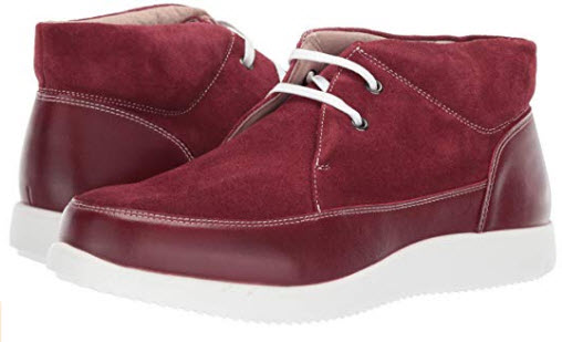 STACY ADAMS Men's Buckley Moc Toe Lace-up Chukka Boot Sneaker red