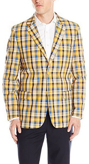 Stacy Adams Men's Country Plaid Two Button Sport Coat.