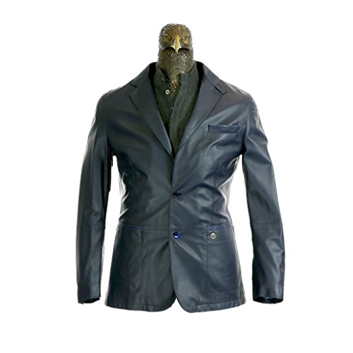 Stefano Ricci Leather Blazer With Crocodile