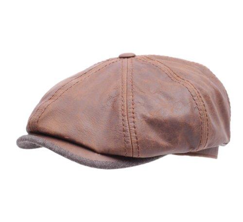 Stetson Hatteras Goatskin Leather Flat Cap