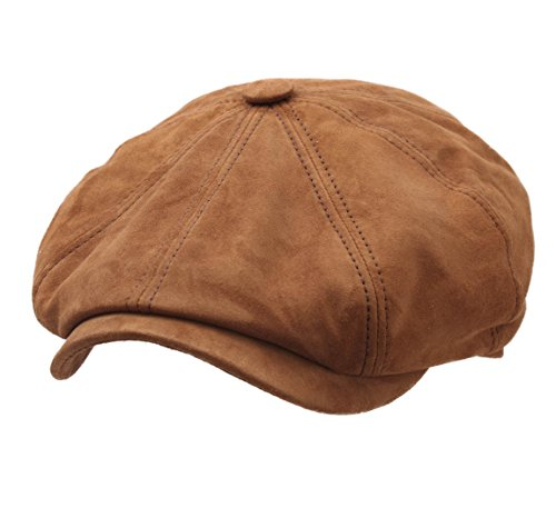 Stetson Men's Hatteras Goat Suede Leather Flat Cap