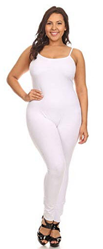 Stretch Cotton Bodysuit Women Stretch Cotton Spaghetti Full Length Romper Jumpsuits Unitard Body ...