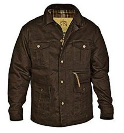 StS Ranchwear Western Grandale Barn Jacket for Men – Medium Brown .