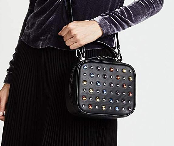 Studio 33 Women's Multi Jewel Box Bag, black