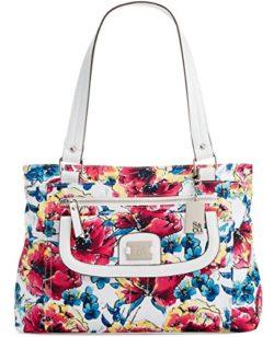 Style & Co. Womens Yassimen Floral Print Satchel Handbag Multi Medium