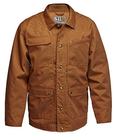 5.11 Tactical Series Men's Ranch Coat, Battle Brown, Small .