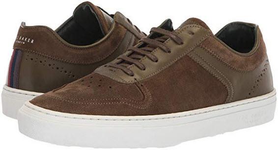Ted Baker Men's Burall Sneaker dark green suede