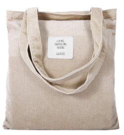 TENXITER Womens Corduroy Tote Handbags Casual Lightweight Corduroy Shoulder Bag Purse Essential  ...