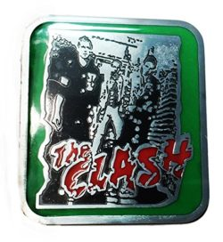 The Clash Punk Rock Band Metal Enamel Belt Buckle by Main Street 24/7
