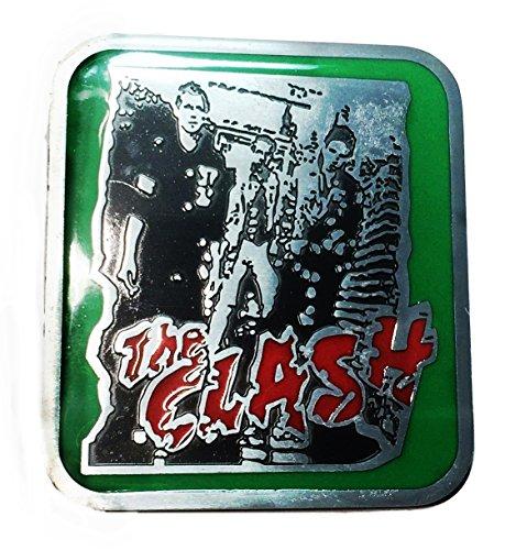 The Clash Punk Rock Band Metal Enamel Belt Buckle by Main Street 24/7