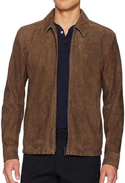 Theory Men's Suede Front Zip Jacket