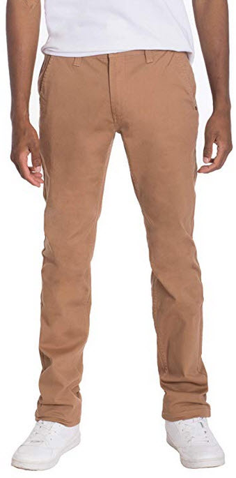 Thread Safari Mens Slim Chino Pants Stretch Colored Cotton Casual 5 Pocket Flat Front Comfort to ...