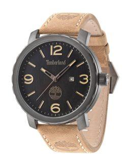 Timberland 14399XSU-02 Mens Pinkerton Brown Leather Strap Watch