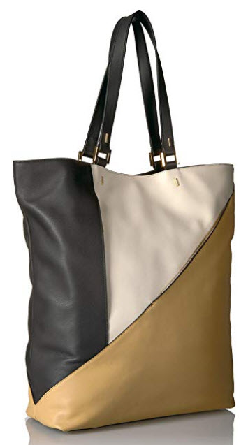 Time's Arrow Ursa Major North South Tote, ginger shell black
