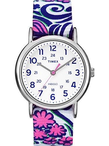 Timex Weekender Reversible Floral Watch – Blue Swirl
