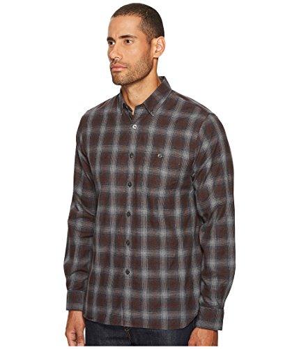 Todd Snyder Men's Button Down Shirt Brown Plaid Flannel