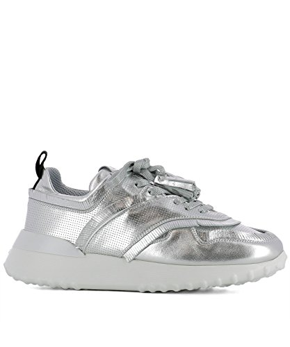 Tod's Women's XXW80A0W600MTZB200 Silver Leather Sneakers