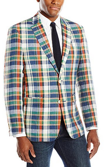 Tommy Hilfiger Men's Madras Plaid Sport Coat.