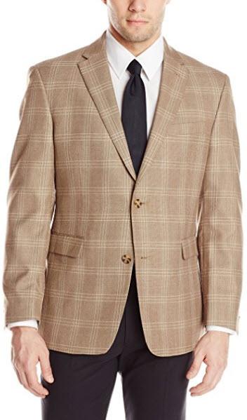 Tommy Hilfiger Men's PV Windowpane Plaid Sportcoat.