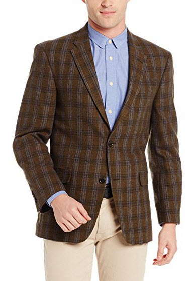 Tommy Hilfiger Men's Two Button Side Vent Gibbs Feather Weight Sport Coat.