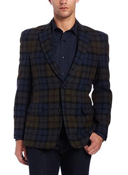 Tommy Hilfiger Men's Two-Button Side-Vent Shetland Sport Coat.