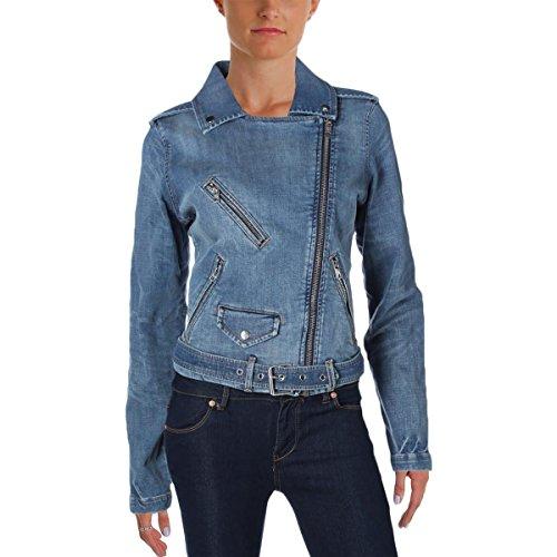 Tommy Hilfiger Women's Denim Adjustable Denim Jacket, Sky Blue, Large