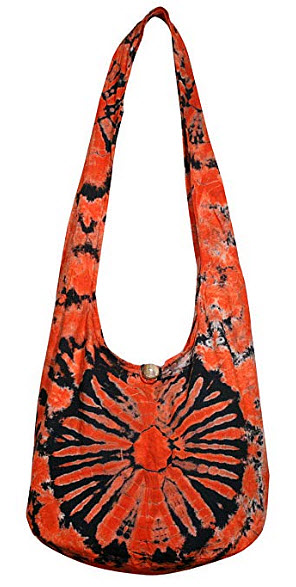 Tonka Tie Dye Crossbody Bags Shoulder Bags Hobo Bags Hippie Purse (Orange)