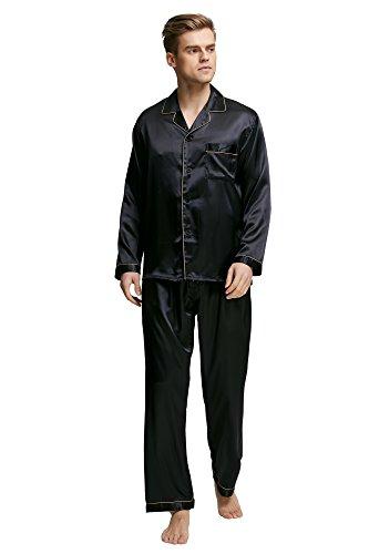 TONY AND CANDICE Men's Sleepwear Classic Satin Pyjama Set, Nightwear