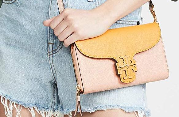 Tory Burch Women's Mcgraw Flat Wallet Crossbody Bag, eraser pink, daylily
