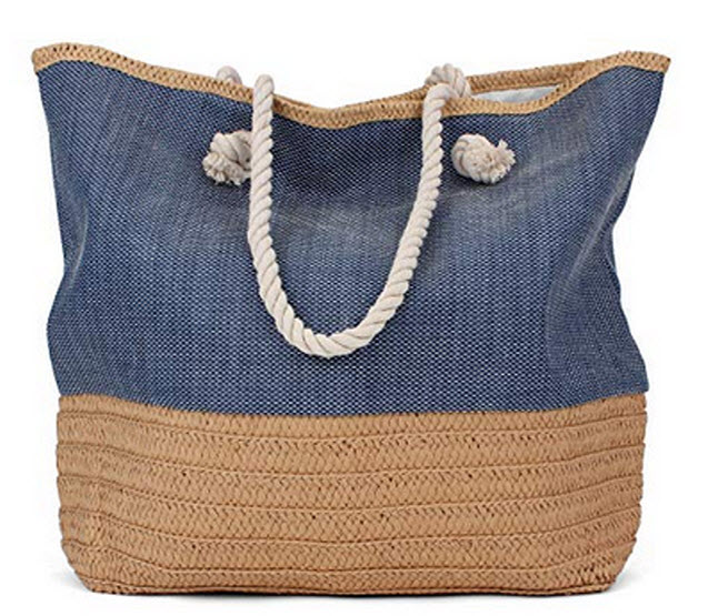 Tote Bag – Beach Bag – Beach Tote – Large Tote Bag with Rope Handles – R ...