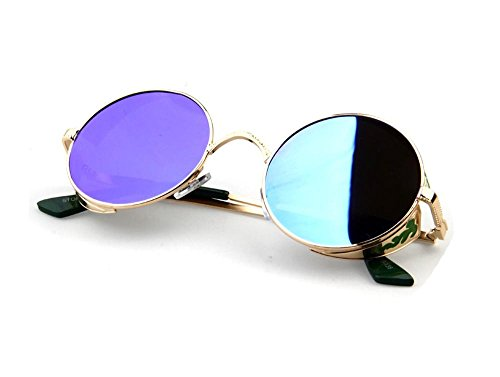 Tou che Luxury Metal Sunglasses Steampunk Vintage Retro Sunglass