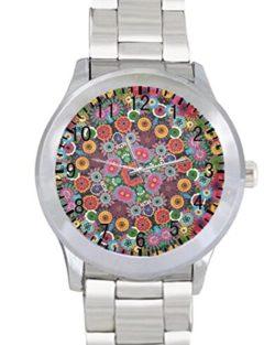 Tree Flower Floral Unisex Stainless Steel Wrist Watch