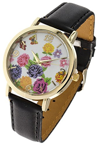 TRENDY FASHION JEWELRY SPRING FLORAL HOLOGRAPHIC DIAL WATCH BY FASHION DESTINATION