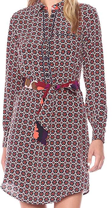 Trina Turk Women's Keleigh Fairfax Floral Silk Shirtdress multi