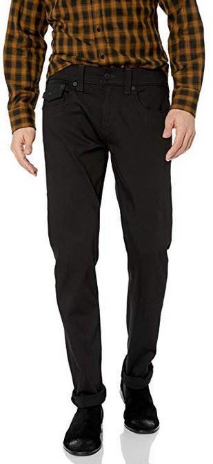 True Religion Men's Blackout Geno Flap SE Jeans in Nightfall Wash