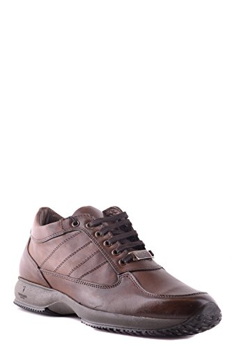 Trussardi Men's MCBI299065O Brown Leather Sneakers