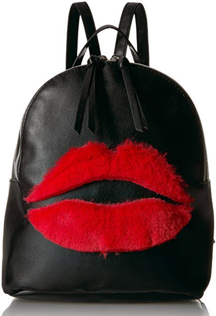 T-Shirt & Jeans Back Pack with Plush Lips