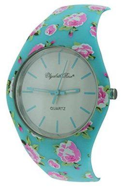 Turquoise Floral Vintage Design Ladies Quartz Watch (01/a)