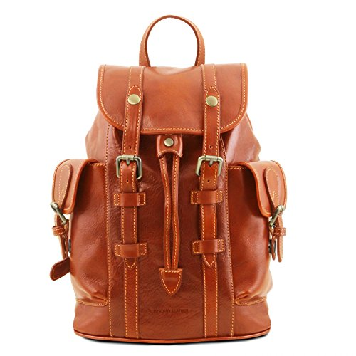 Tuscany Leather Nara Leather Backpack with side pockets