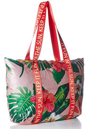 Twig & Arrow Frosted Jelly Shoulder Bag, tropical floral