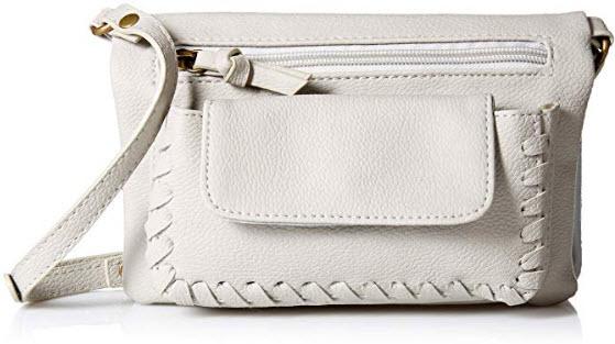 Twig & Arrow Jaxton Whipstitch Wallet on a String, grey
